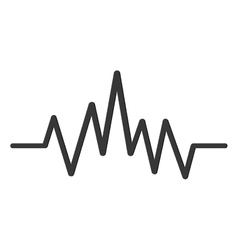 music soundwave icon vector image
