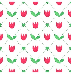 Seamless watercolor pattern with tulips on the vector image vector image