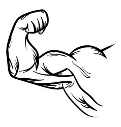 strong bodybuilder biceps flex arm icon vector image