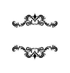 vignette decorative crest ornate flourish vector image vector image