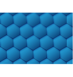 Abstract blue pattern hexagon background vector