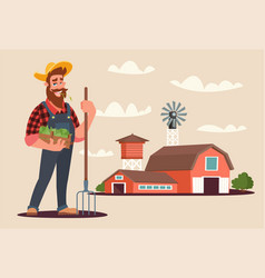 agronomist at work flat vector image