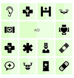 Aid icons vector