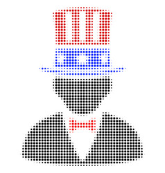 American uncle sam halftone icon vector