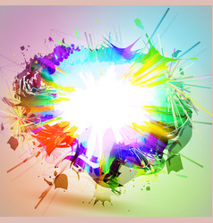 An explosion of colors rainbow abstract eps10 vector