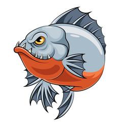 Angry piranha fish vector