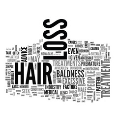 Are hair loss treatments just one big scam text vector