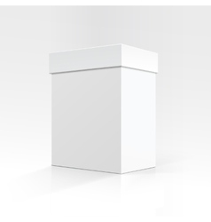 Blank Rectangular box in Perspective for package vector