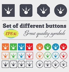bowling icon sign Big set of colorful diverse vector image