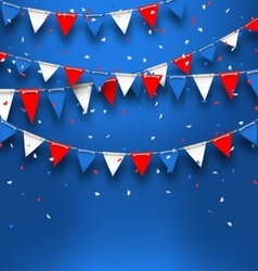 Bright Background with Bunting Flags for American vector