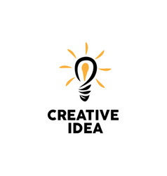 bulb creative logo design inspiration vector image