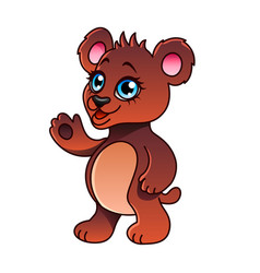 cartoon bear isolated vector image