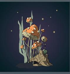 cartoon fungus vector image
