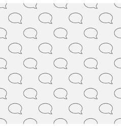 Chat seamless pattern vector