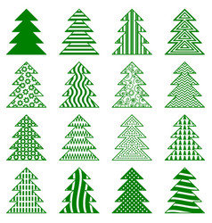 Christmas fir trees vector