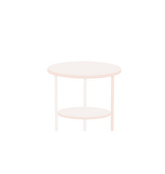 circle table icon on white background vector image