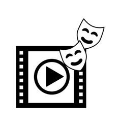 countdown strip and masks production movie film vector image