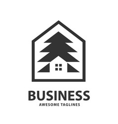 creative and simple pine house vector image
