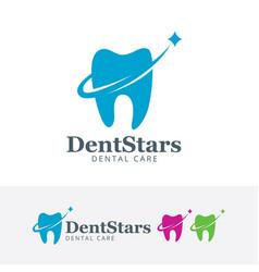 Dental star logo design vector