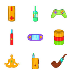 Detoxification icons set cartoon style vector