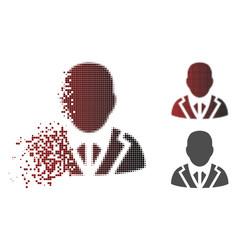 Dust pixel halftone valet icon vector