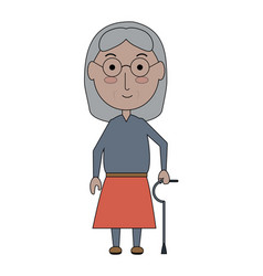 elderly woman icon vector image