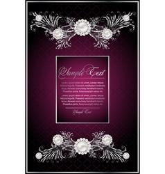 floral violet card vector image