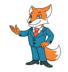 fox in office suit vector image