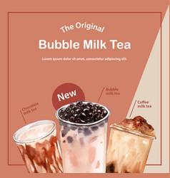 Freshness shake juice taiwan milk tea asian style vector