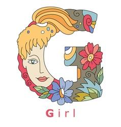 G girl vector