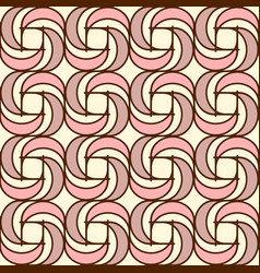 geometric seamless pattern background with spiral vector image