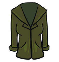 green coat on white background vector image