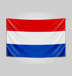 hanging flag of netherlands netherlands holland vector image