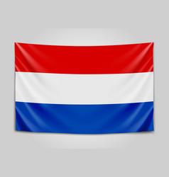 Hanging flag of netherlands netherlands holland vector
