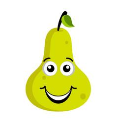 happy pear emoticon vector image