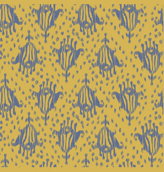 Ikat seamless bohemian ethnic grey and yellow vector