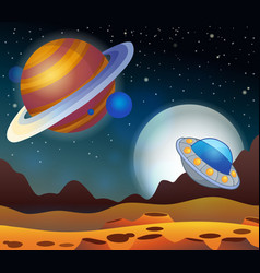 Image with space theme 2 vector