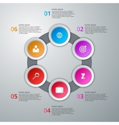 infographics six options vector image