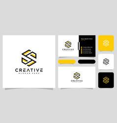 Initials letter s logo design line style vector