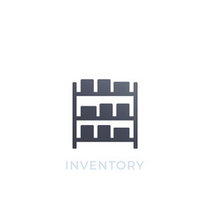 Inventory icon isolated on white vector