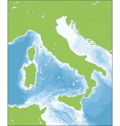 Italian Republic map vector image