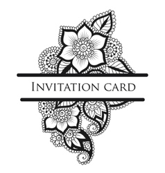 lace invitation card vector image