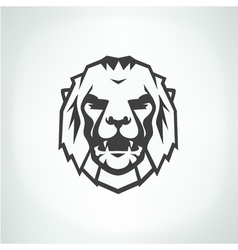 Lion face logo emblem template vector image