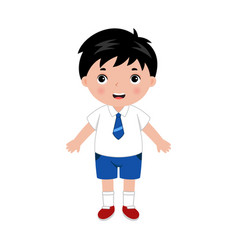 little boy in school uniform vector image