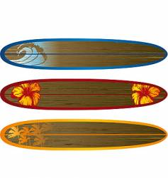 long board set vector image