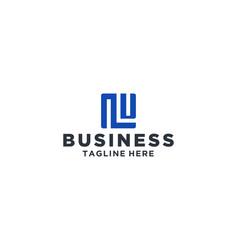 Lu square logo vector