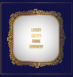 Luxury golden floral ornament frame design frame vector