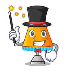 Magician modern table lamp isolated on mascot vector