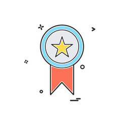 medal award star icon design vector image