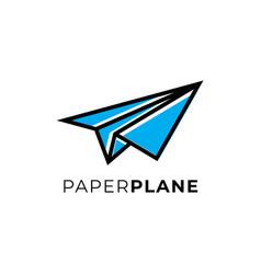 modern paper plane logo design inspirations vector image